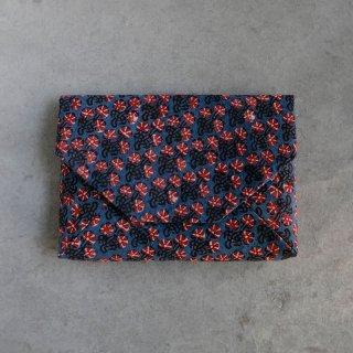 インド木版更紗 数寄屋袋 花