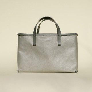 SUGA    帆布トートバッグ    金斑灰色(横中小)