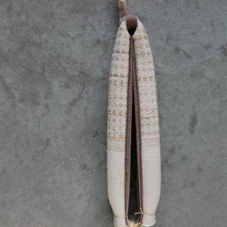 maki textile studio(インド手織り布) 花緒 白