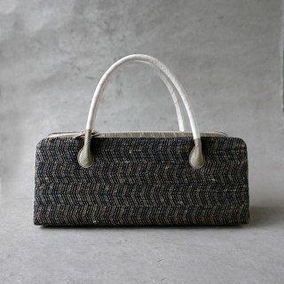 maki textile studio(インド手織り布) 利休バッグ 菱 (茶×紺)