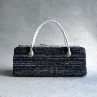 maki textile studio(インド手織り布) 利休バッグ 紺
