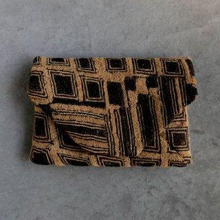 長谷川まみコレクション裂の数寄屋袋 クバ族 草ビロード