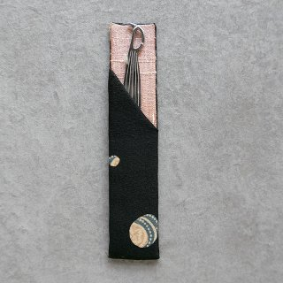 「Eddy An Batik 」×月日荘  手描きジャワ更紗  楊枝入れ 月[笹形楊枝付き]