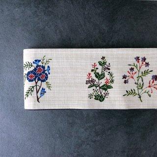 紅型 �保聡 半幅帯_野の花
