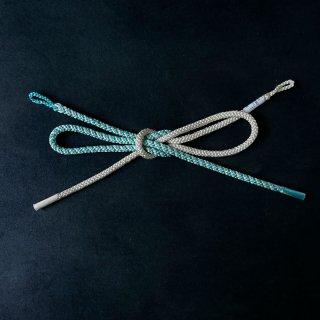 れん 羽織紐 斜め 水色×アイボリ