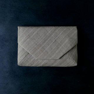 H.P.E.谷由起子 ラオスの布  数寄屋袋  薄茶