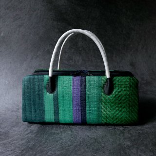 インド木版更紗 利休バッグ 緑