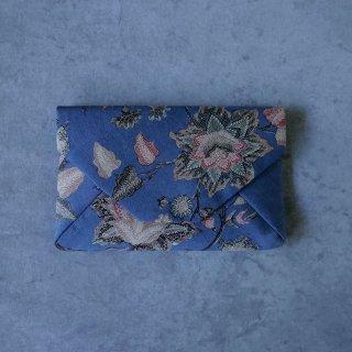 手描きジャワ更紗 Reisia 数寄屋袋 「巣立鳥」