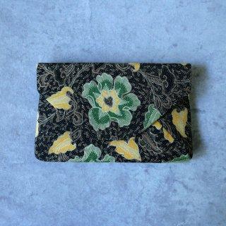 手描きジャワ更紗 Reisia 数寄屋袋 「メガムンドゥンの花」