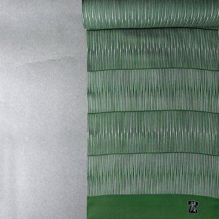 武村小平 長襦袢「縦波:緑」