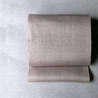 型染 武村小平 大麻布名古屋帯[桜鼠]