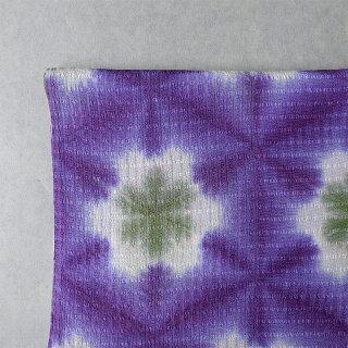 藤井絞り 雪花絞り帯揚げ 単衣・夏用 紫×草色