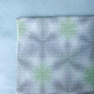 藤井絞り 雪花絞り帯揚げ 単衣・夏用 灰色×薄黄緑