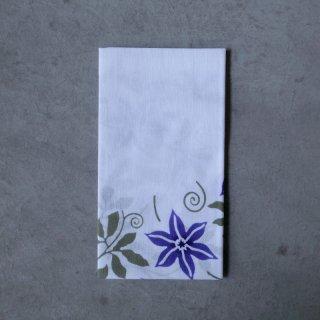 あひろ屋 手ぬぐい 鉄線唐草(tessen karakusa) 花色:紫