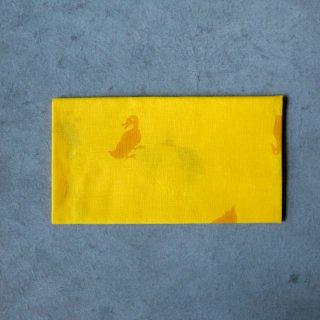 あひろ屋 手ぬぐい 鶩(ahiru) 黄色
