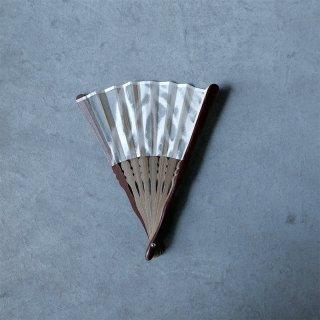 森田千晶 絹と和紙の扇子 6寸 根