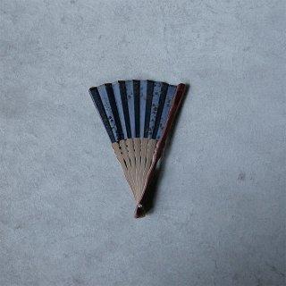 森田千晶 絹と和紙の扇子 6寸 丸レース