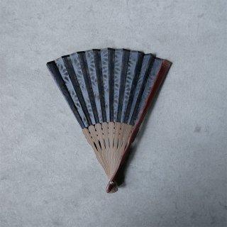 森田千晶 絹と和紙の扇子 7寸 麻の葉