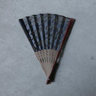 森田千晶 絹と和紙の扇子 7寸 根