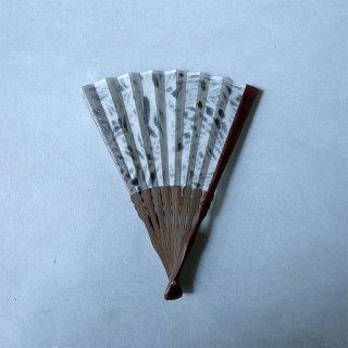 森田千晶 絹と和紙の扇子 7寸 六角