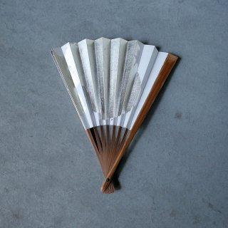 森田千晶 紙扇子 7寸 銀1