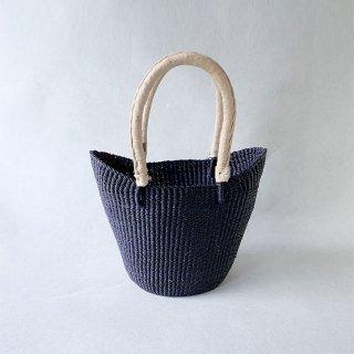 biga   西アフリカ  バスケット ボートS 紺紫×ベージュ
