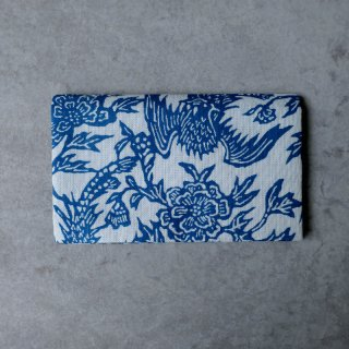 正藍型染綿紗  懐紙入