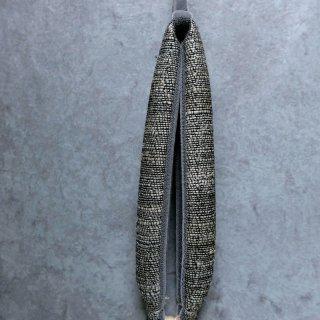 maki textile studio(インド手織り布) 花緒 墨白