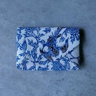 正藍型染め綿紗 数寄屋袋