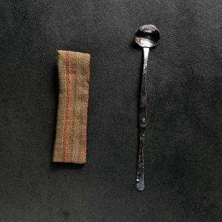 長谷川まみ 南鐐折茶杓 縞