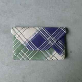 柳 晋哉 数寄屋袋  「吉野染め分け裂 緑と紫」
