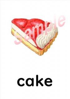 小学生子供の英語英会話フラッシュカード(食べ物と飲み物 Food and Drinks)30ダウンロード