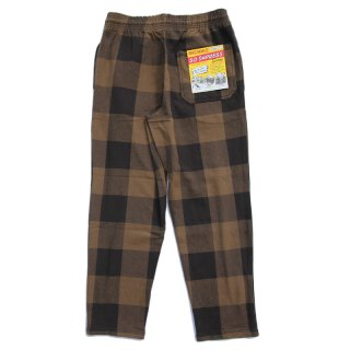 <img class='new_mark_img1' src='https://img.shop-pro.jp/img/new/icons13.gif' style='border:none;display:inline;margin:0px;padding:0px;width:auto;' />HEAVY FLANNEL EASY PANTS (BROWN×BLACK)/BIG MIKE ビッグマイク