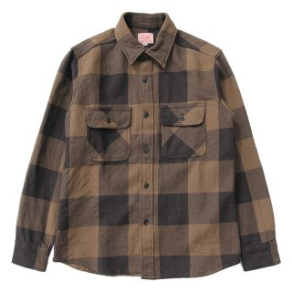 HEAVY FLANNEL SHIRTS (BROWN×BLACK)/BIG MIKE ビッグマイク
