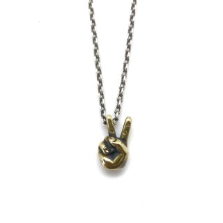 <img class='new_mark_img1' src='https://img.shop-pro.jp/img/new/icons13.gif' style='border:none;display:inline;margin:0px;padding:0px;width:auto;' />V Sign Necklace (BRASS)/VIN'S ビンズ