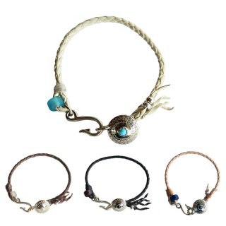 <img class='new_mark_img1' src='https://img.shop-pro.jp/img/new/icons13.gif' style='border:none;display:inline;margin:0px;padding:0px;width:auto;' />LEATHER CONCHO BRACELET/AKASHIC TREE アカシックツリー