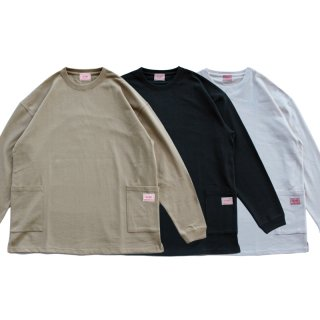 <img class='new_mark_img1' src='https://img.shop-pro.jp/img/new/icons13.gif' style='border:none;display:inline;margin:0px;padding:0px;width:auto;' />W POCKET SMOCK L/S TEE/BIG MIKE ビッグマイク