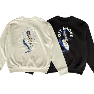 <img class='new_mark_img1' src='https://img.shop-pro.jp/img/new/icons13.gif' style='border:none;display:inline;margin:0px;padding:0px;width:auto;' />SURFGIRL CREWNECK/OFFSHORE オフショア