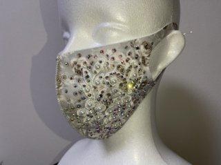 ストーンデコレーションマスク グレー 156719508