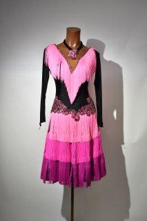 【別店舗にある商品の為在庫確認必要】ラテンドレス MG 3色ピンク Mサイズ 161520567