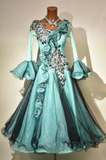 スタンダードドレス MG 緑黒花柄 Mサイズ 161521016
