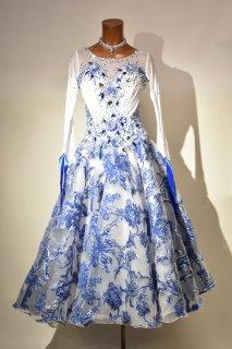 スタンダードドレス MG 青白花柄 Mサイズ 161521109