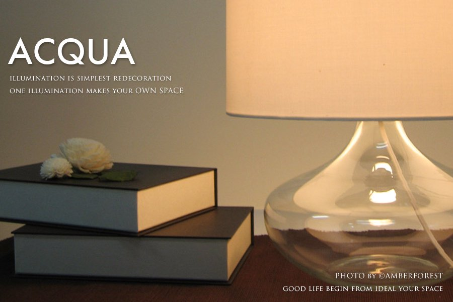 Acqua table lamp テーブルライト ブラック ホワイト