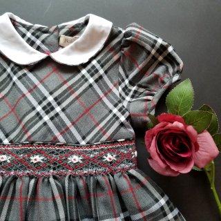 10%OFFイタリアMalviグレータータン半袖ワンピースローズ刺繍