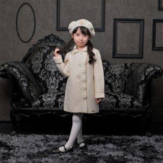 スペイン Marae マラエ ♪ラッフルフロント×バックリボンコート blanco♪メリノウール100% ウールコート