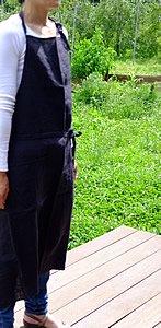 エプロン/リーノ・エ・リーナ/リトアニアリネン/麻/lino e lina 【マノン】ノワール【画像5】