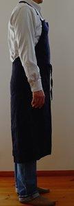エプロン/リーノ・エ・リーナ/リトアニアリネン/麻/lino e lina 【マノン】ノワール【画像7】