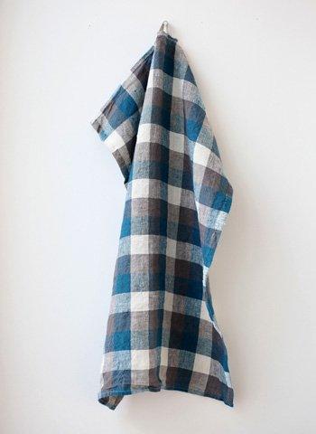 ブルー系 キッチンクロス/リーノ・エ・リーナ/リトアニアリネン/麻/lino e lina 【ブシュロン】ブルー