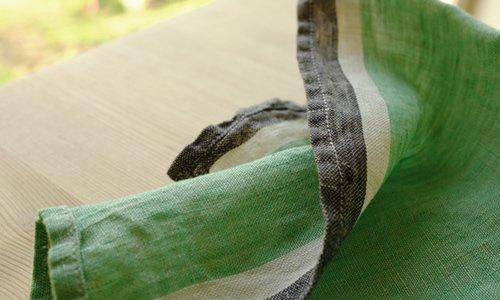 ハンカチ/麻/リーノ・エ・リーナ/リトアニアリネン/lino e lina 【ヴィフ】グリーン【画像2】