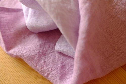 ハンカチ/麻/リーノ・エ・リーナ/リトアニアリネン/lino e lina 【ライラック】【画像8】